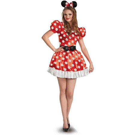 Disney Minnie Mouse Classic Women's Adult Halloween Costume - Adult Mickey Mouse Halloween Costume