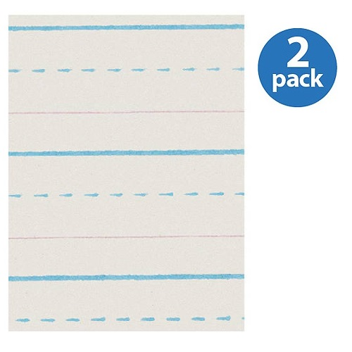 (2 Pack) Zaner-Bloser Dotted Midline Newsprint Paper, 500 / Pack (Quantity)