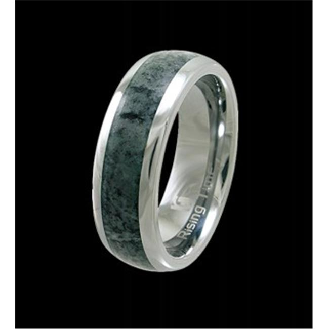 Rising Time TN-3109-sz-10 Tungsten Band With Seraphinite Stone Inlay Ring Size- 10