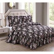 Rosanne Antique Rose 3-piece Bedspread Set Queen