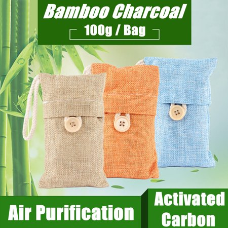 Moaere 100g Air Purifying Bag Bamboo Charcoal Air Freshener Deodorizer Odor Eliminator Odor Absorber for Cars and