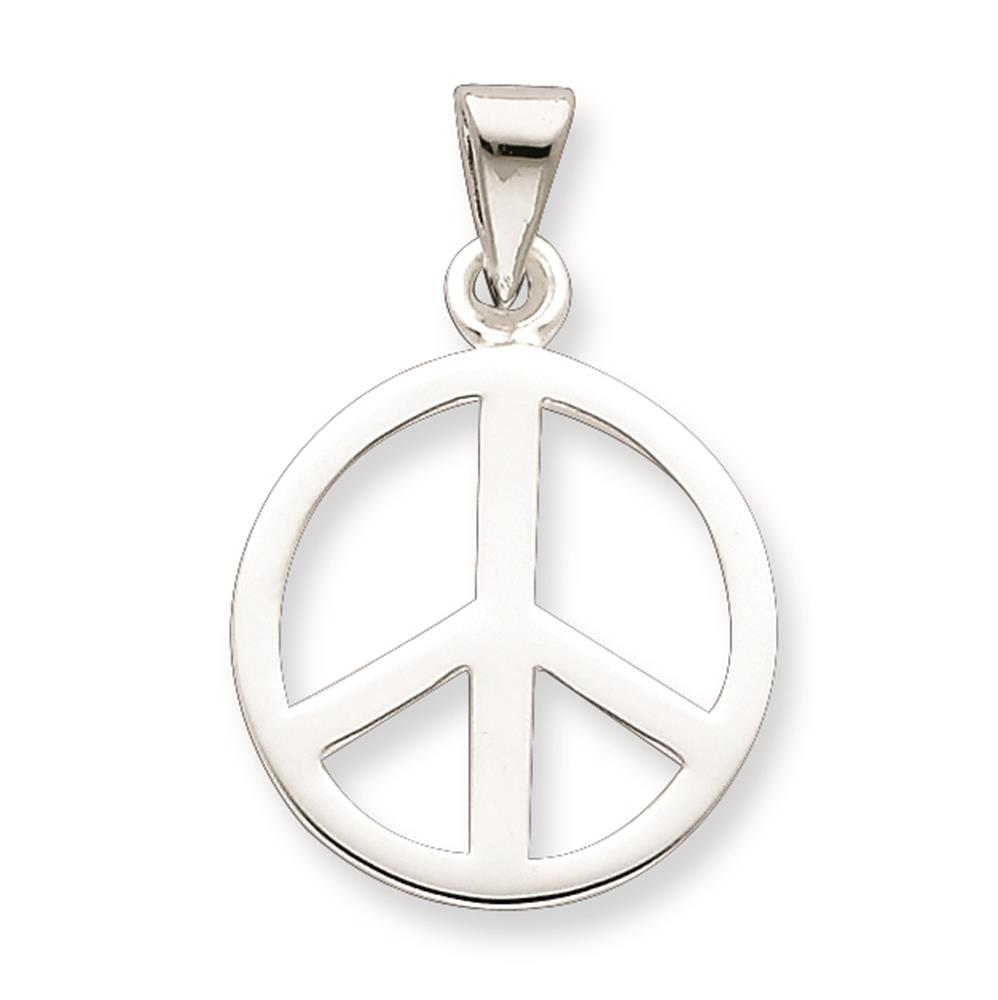 925 Sterling Silver Peace Sign Charm Pendant