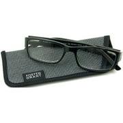 Foster Grant Men's Rocket Reading Glasses, Black