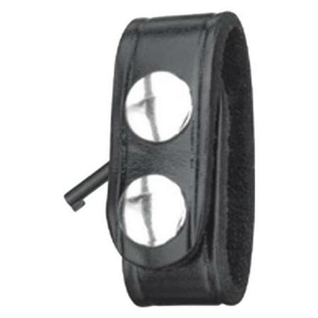 - Gould and Goodrich B127WBR Hidden Cuff Key Belt Keeper, Black Weave with Brass Snaps