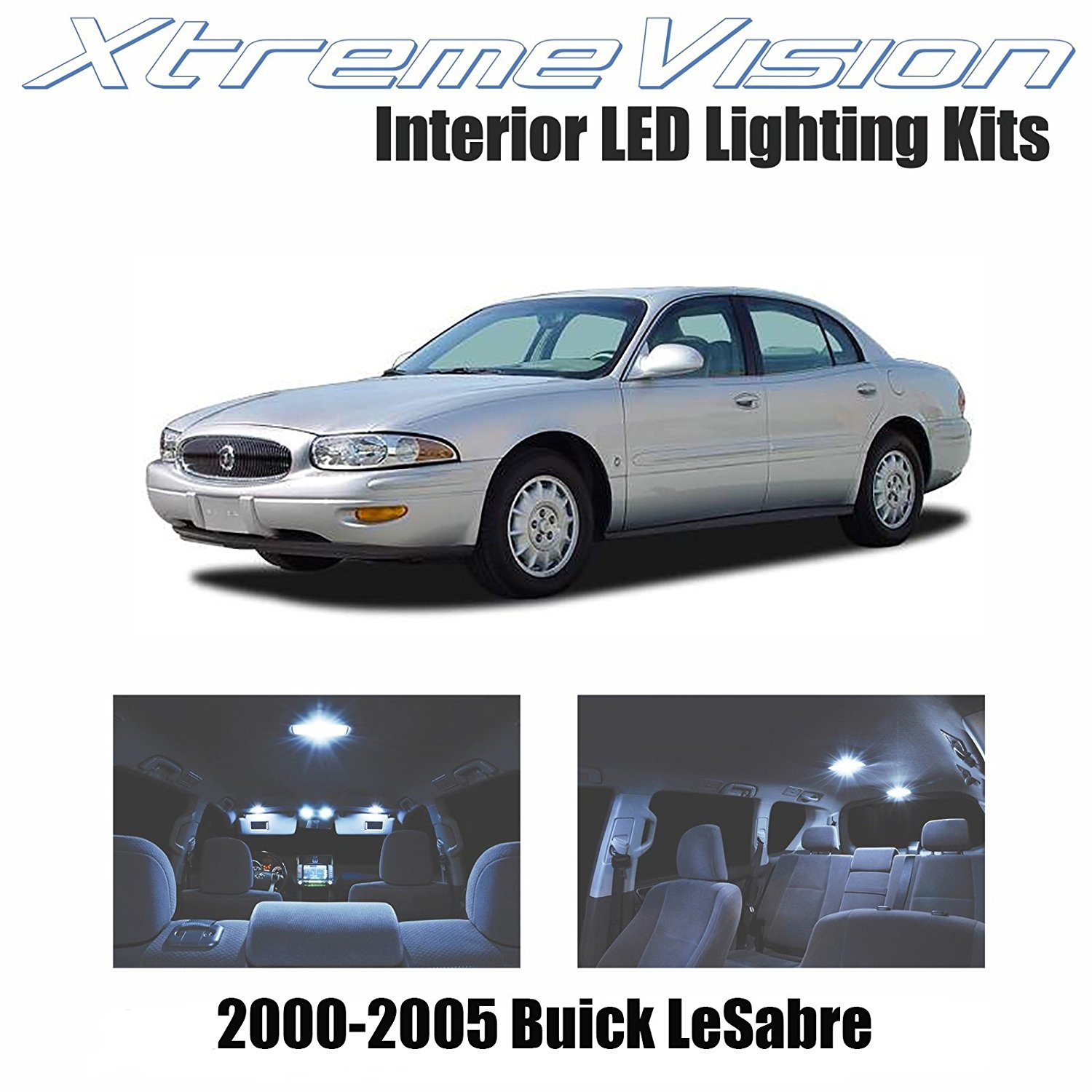 XtremeVision LED for Buick LeSabre 2000-2005 (20 Pieces) Cool White Premium Interior LED Kit Package + Installation Tool