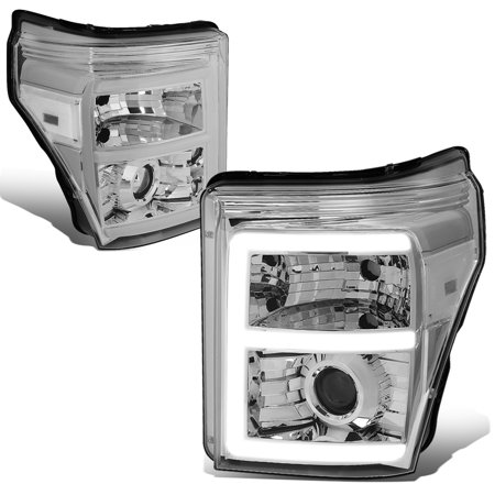 Ford F350 Super Duty Corner (For 2011 to 2016 Ford F250 / F350 / F450 / F550 Super Duty Chrome Housing Clear Corner 3D LED E -Styling DRL Projector Headlight Headlamps 12 13 14 15 )