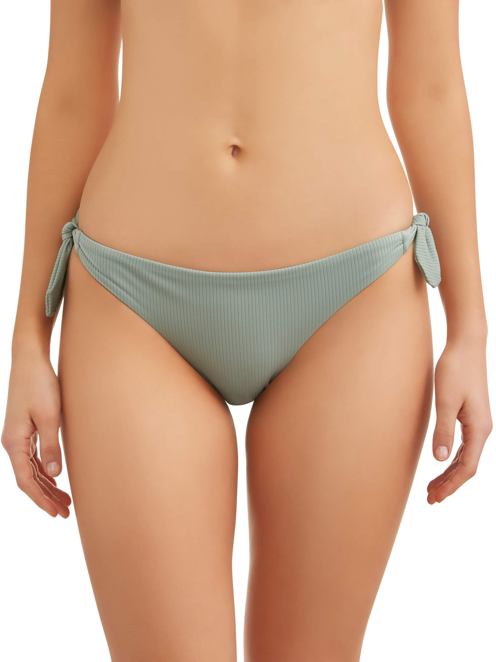 Juniors' Bunny Rib Side Tie Swimsuit Bottom