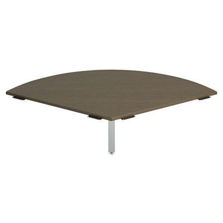 Bush Furniture Pie Shaped Connector Momentum  Mocha Cherry   Pie Shaped Desk Top For The Momentum Collection