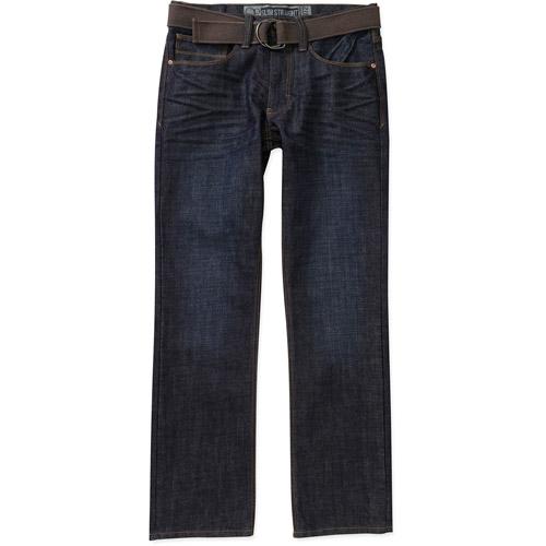 OP Men's Belted Slim Straight Jeans