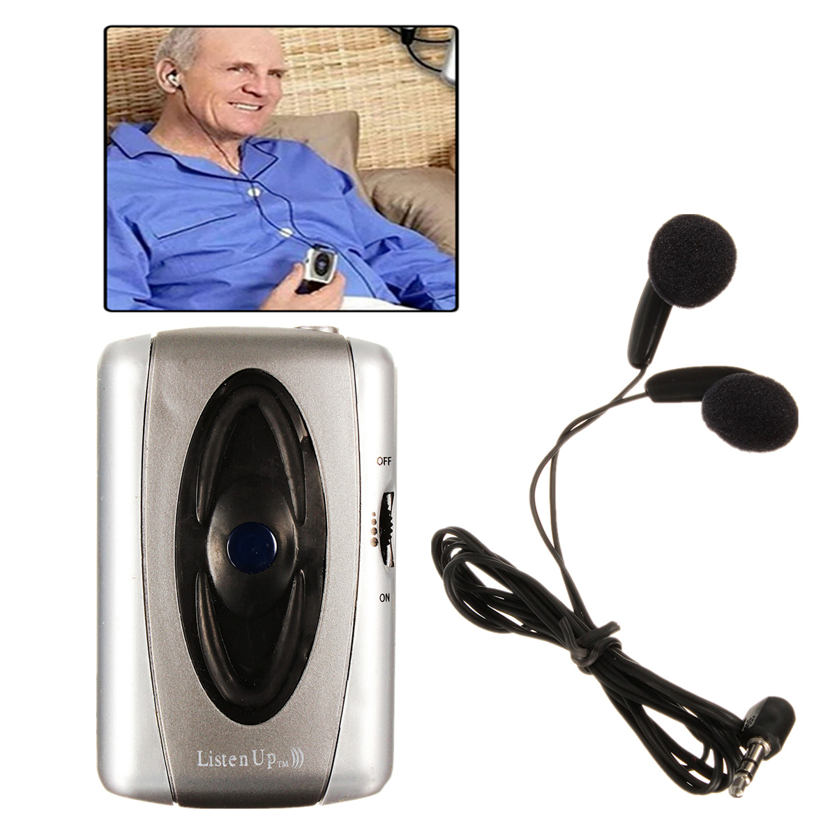 Voice Hearing Aids For Elder/Old Men Personal Listen Up Sound Amplifier Listen Device