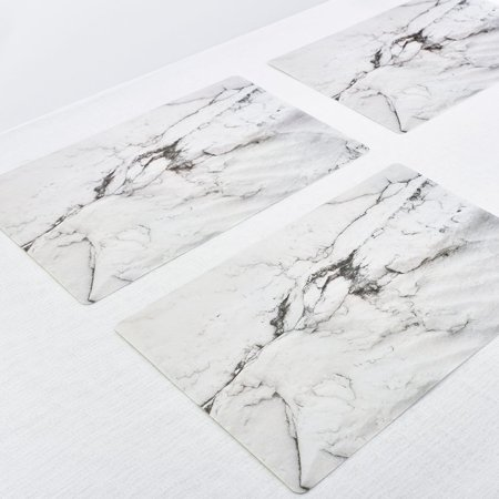 2PCS/SET Marble Pattern Anti-Slip Heat Insulated PVC Dining Table Kitchen Coffee Tea Place Mat Tableware Pad Mat - image 5 of 6