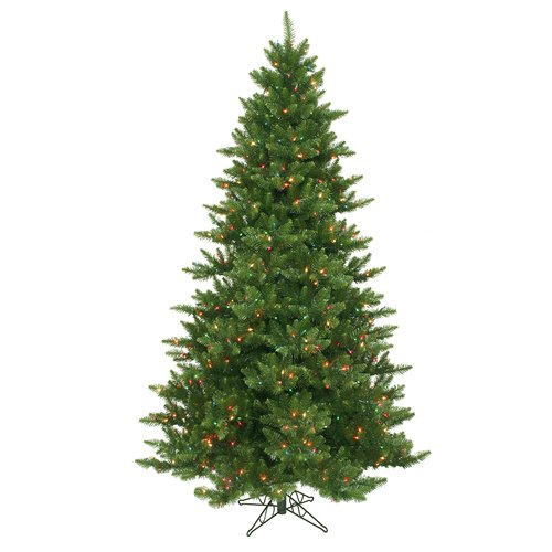 The Holiday Aisle 7.5' Camdon Fir Artificial Christmas Tree with 800 LED Multi Colored Lights