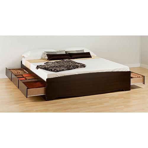 Prepac Edenvale King Platform Storage Bed Espresso Walmartcom