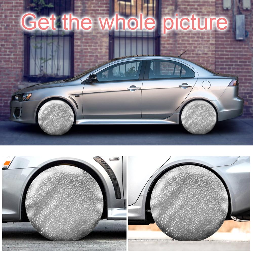 Kohree Tire Covers Tire Protectors RV Wheel Motorhome Wheel Covers Sun Protector Waterproof Aluminum Film Cotton Lining Fits 27 to 29 Tire Diameters Set of 4
