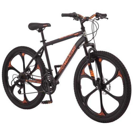 ee582d5159f Mongoose Mack Mag Wheel Mountain Bike, 26-inch wheels, 21 speeds, men's  frame, black - Walmart.com