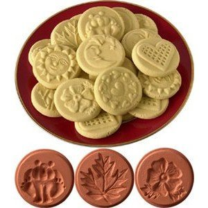 JBK Pottery Cookie Stamp 3-Piece Set, Nature - NEW