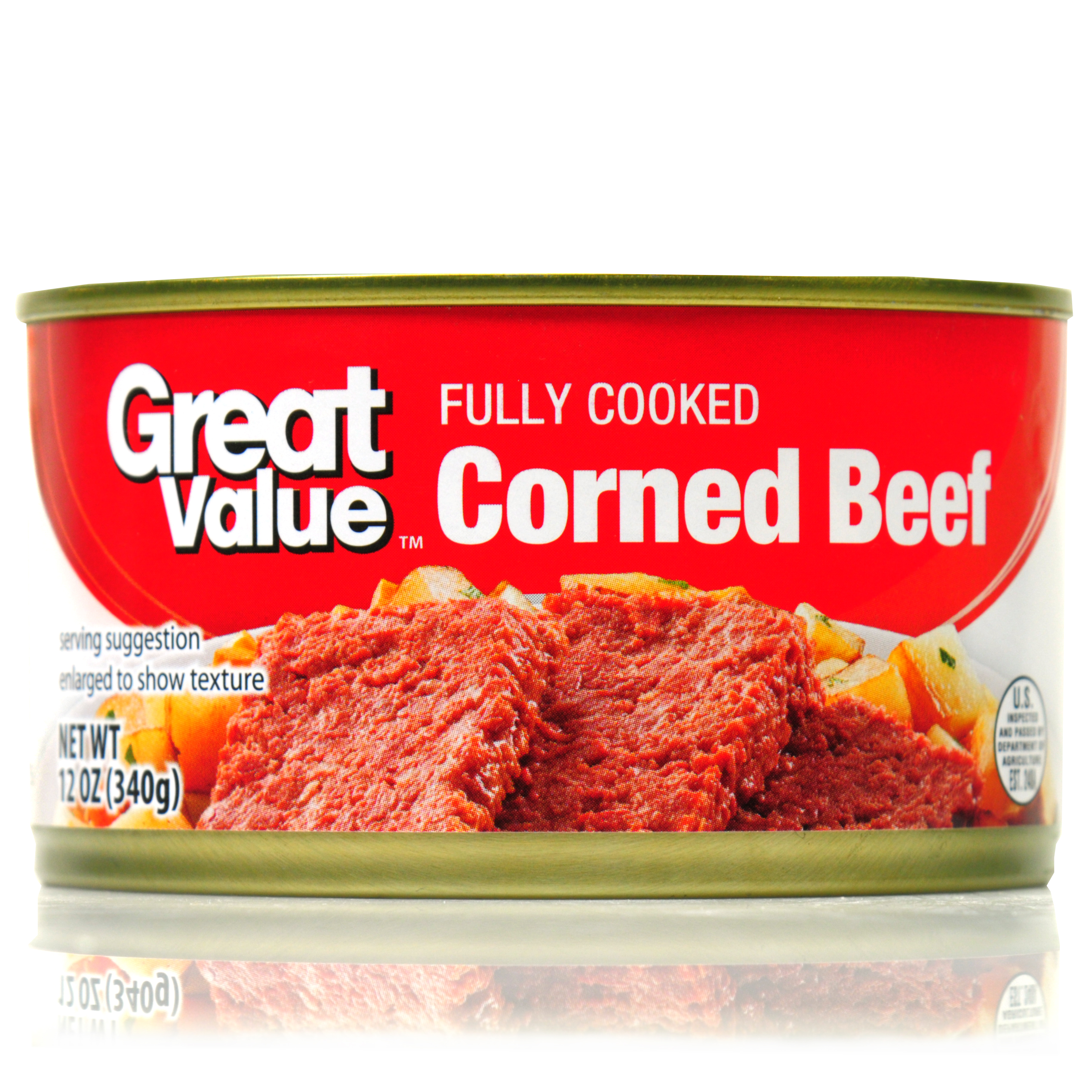 (2 Pack) Great Value Corned Beef, 12 oz