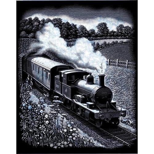 Reeves Steam Train Scraperfoil