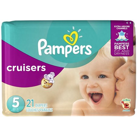 3 pack pampers cruisers diapers size 5 jumbo pack 21 ea. Black Bedroom Furniture Sets. Home Design Ideas