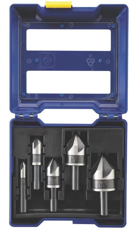 Irwin 1877793 5 Piece Black Oxide Countersink Drill Bit Set by Irwin