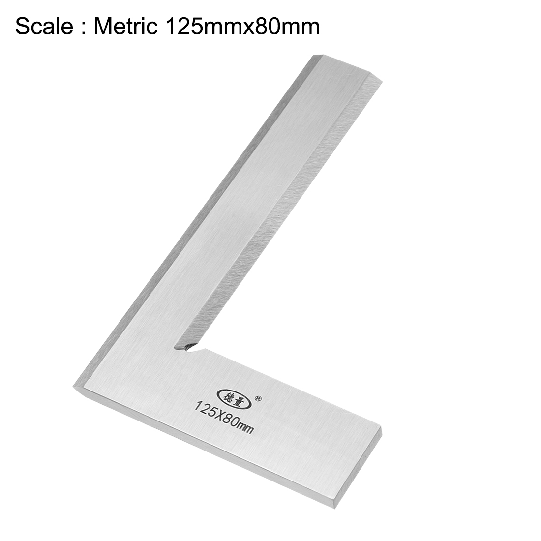 Try Square Ruler, 125mmx80mm Woodworking Blade Measuring Tool Right Angle - image 1 de 3