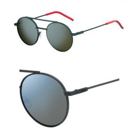 Sunglasses Fendi 221 /S 01ED Green / 3U khaki mirror blue lens