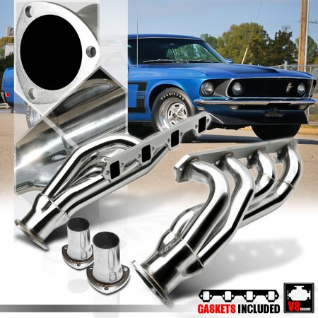 SS Exhaust Header Manifold for 62-77 260-302 V8 Falcon/Mustang/Cougar/Maverick 63 64 65 66 67 68 69 70 71 72 73 74 75 76 64 65 66 Mustang Convertible