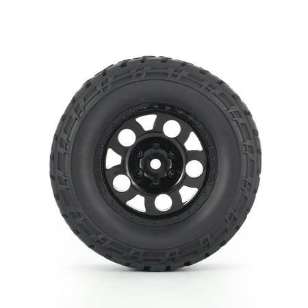 4pcs AUSTAR 110mm Rim Rubber Tires Wheel for Traxxas Slash 4X4 Crawler Car RC - image 5 de 8