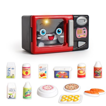 Children's kitchen toys-Children's toys educational toys- Microwave oven, vacuum cleaner, electric iron, juicer for children the best gift