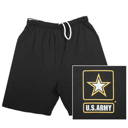 Patrick Star Shorts (Fox Outdoor 64-7925 M Mens Army Star Running Shorts, Black -)