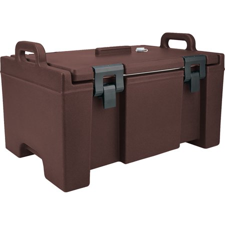 Cambro Insulated Food Carrier  Bulk Food Storage  Molded Handles  Dark Brown  Upc100 131