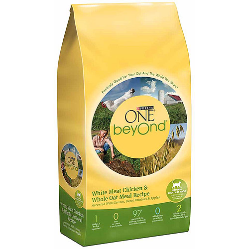Purina Beyond Cat Food >> Purina ONE beyOnd Adult Chicken&Whole Oat Meal Recipe Cat Food 13 lbs - Walmart.com