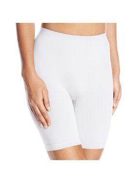 Womens Comfortably Smooth Slip Short Panty, 3XL, White Ice