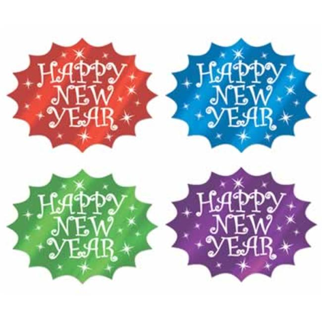 Beistle - 88079 - Foil Happy New Year Cutouts - Pack of 24