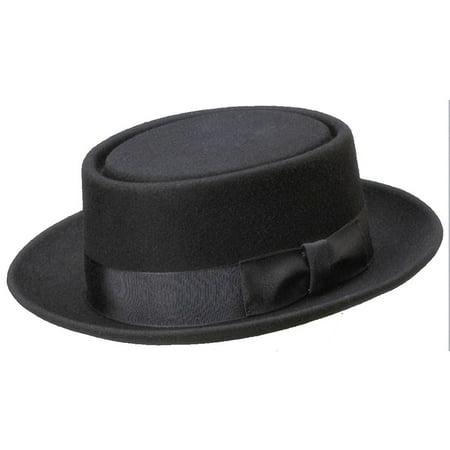 Deluxe Felt Heisenberg Pork Pie Black Hat