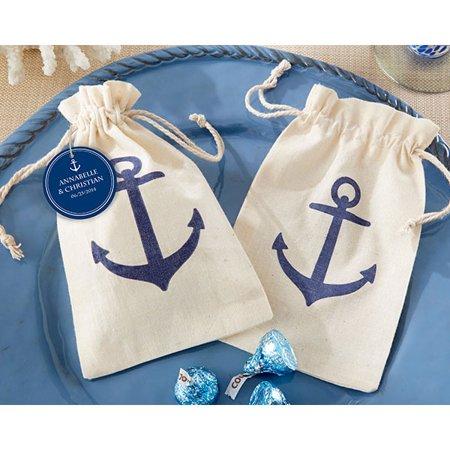 Anchor Muslin Favor Bags (Set of 12)