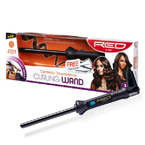 KISS Red Ceramic Tourmaline 0.5 Inch Curling Wand 1 ea