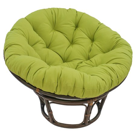Amber Accent Chair (Blazing Needles Twill Solid Papasan)