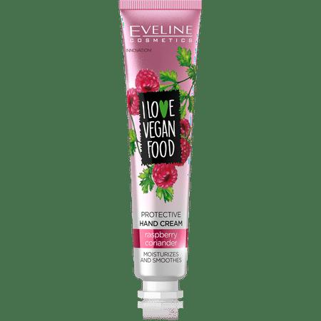 Eveline Cosmetics I Love Vegan Nourishing Hand Cream - Raspberry Pack of 2 Hand Crocheted Raspberry