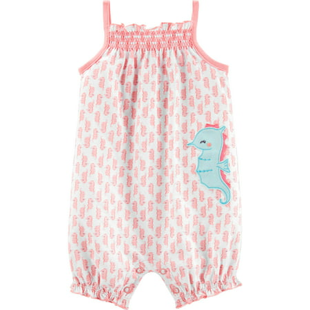 Sleeveless One Piece Romper, (Baby Girls)
