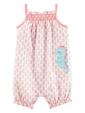 e74b431de42cd Product Image Sleeveless One Piece Romper, (Baby Girls)
