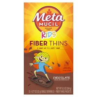 Metamucil Kids Fiber Supplement Thins, Wafers, Chocolate, 12 Ct