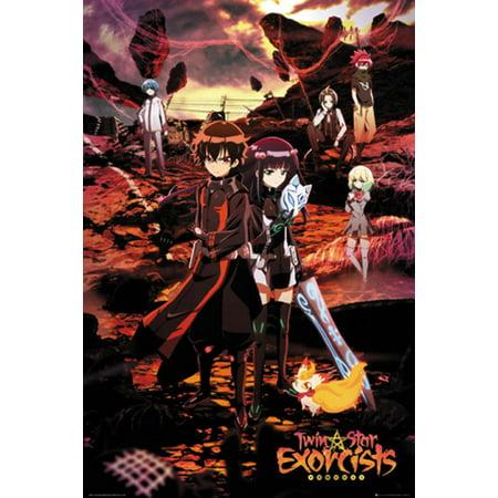 Twin Star Exorcists - Anime / Manga TV Show Poster / Print (Key Art - Regular Style) (Size: 24