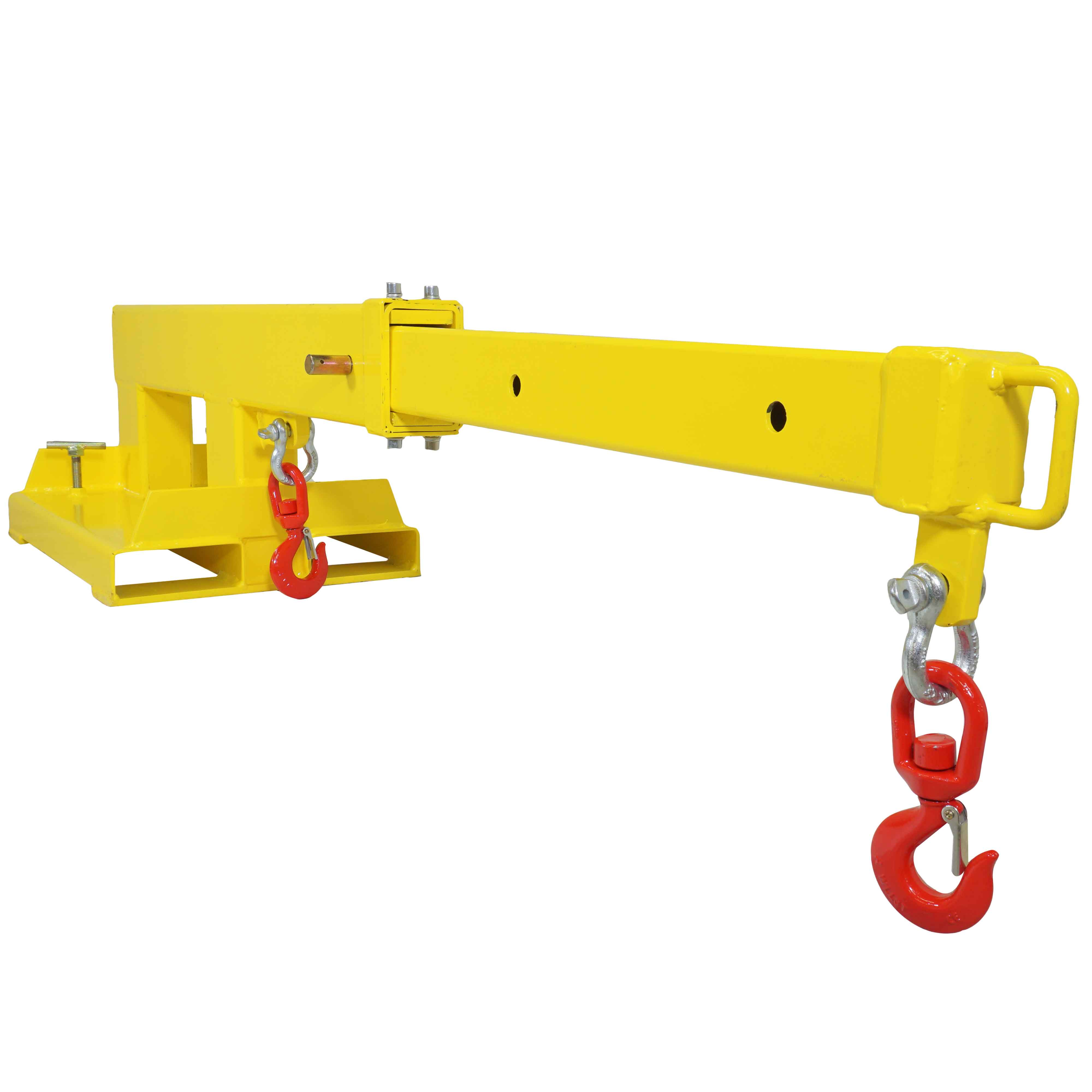 Forklift Mobile Crane Lifting Hoist Truss Jib Boom 2 Hooks 5500 lb Capacity by Titan Attachments