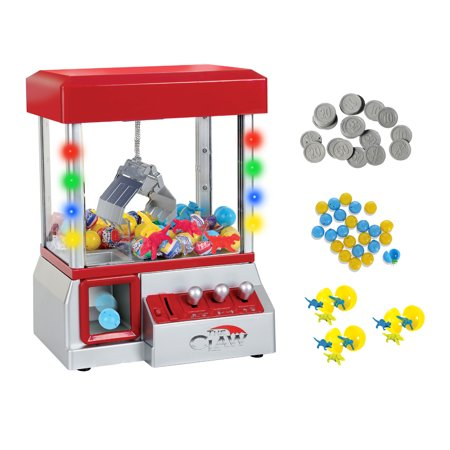 Claw Home Arcade Game Prize Grabber Carnival LED Lights Toys Included
