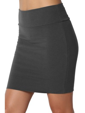 da40cfbf29 Product Image TheMogan Junior's S~XL Stretch Cotton Jersey Lined Bodycon  Short Tube Mini Skirt