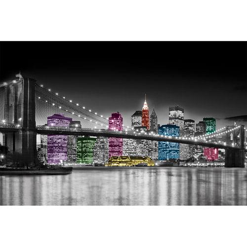 Canvas Wall Art Black & White NY Skyline, 21.5\
