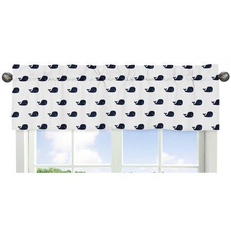 Sweet Jojo Designs Whale Collection Multicolor Cotton Window Valance