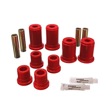 Energy Suspension 92-94 K-5 Blazer / 92-99 Denali/Suburban/Yukon Red Front Control Arm Bushing Set