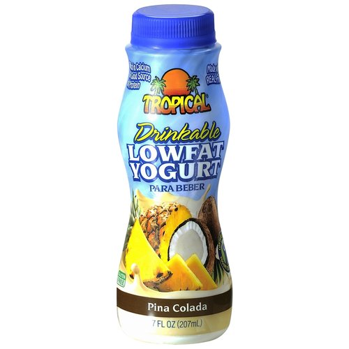 Tropical Pina Colada Drinkable Lowfat Yogurt, 7 fl oz